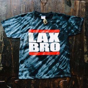 LAX BRO Tie Dye Lacrosse T-Shirt Men's MED NEW